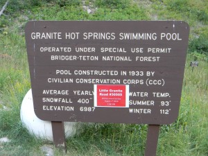 Granite Hot Springs Swimming Pool Sign