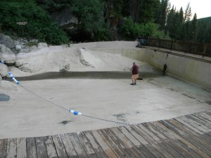 Granite Creek Hot Springs Pool Empty