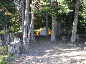 Bridger-Teton Granite Hot Springs Campsite